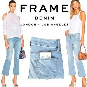 FRAME Denim Le Crop Mini Boot jeans in Garrn 25